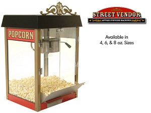 Street Vendor Popcorn Machine- 4 ounce Kettle