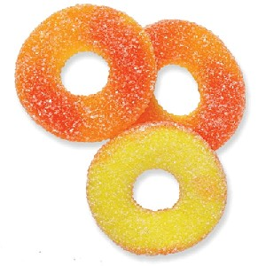 Sugar-Free Peach Rings - 9lbs