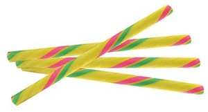 "Super Sour Candy Sticks - 7"" - 100ct"