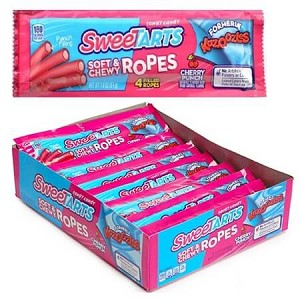 Cherry Punch Sweetart Candy Ropes - 24ct