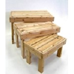All Knotty Pine Heavy Duty Table Risers - 3pc