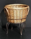 Tall Willow Basket And Floor Stand