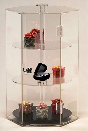 Revolving Acrylic Hexagon Display