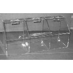 Clear Acrylic Toppings Bin - 3 Compartment