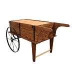 Flower Cart - Toasted Finish