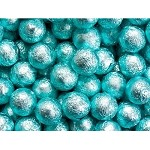 Tiffany Blue Foil Chocolate Balls - 10lbs