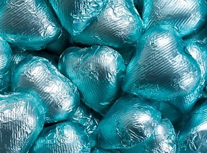 Tiffany Blue Milk Chocolate Hearts - 10lbs