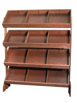 Tilt Tray Display Wood Tray Rack Tray Stand Wood