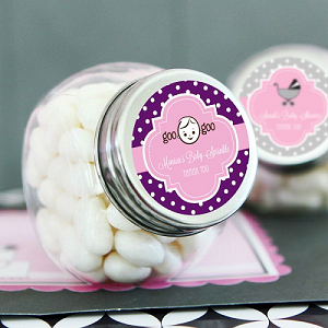 Traditional Baby Glass Candy Jars - 24ct