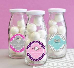Traditional Baby Shower Glass Milk Bottles - 24ct