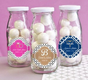 Traditional Wedding Glass Milk Bottles -  24ct
