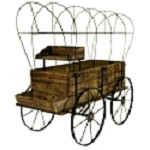 Wagon Display - Treated Wood - Without Cover