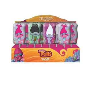 Trolls Foiled Solid Milk Chocolate Pop - 24ct