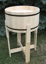 Tubby Barrel Display with Removable Legs