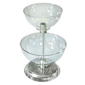 Small Two-Tier Bowl Counter Display
