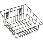 Black Sloped Front Basket - For Grid and Slatwall