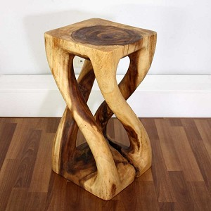 "Vine Twist Stool - 12"" SQ x 22"" H - Finish Choices"