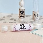 Vintage Personalized Wedding Candy Tubes - 24ct