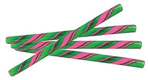 "Watermelon Candy Sticks - 7"" - 100ct"