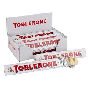White Chocolate Toblerone - 20ct