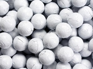 White Foil Chocolate Balls - 10lbs