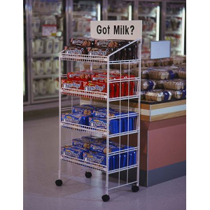 White Modular Display Rack - 52 Inch