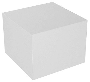 White Cube Table Display - Size Choice