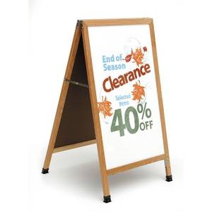 A Frame Whiteboard Sidewalk Sign - Wood Choice