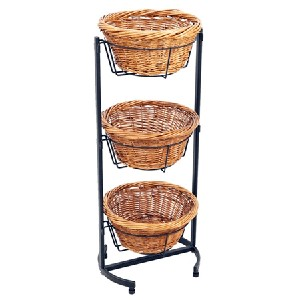 Willow Basket Dump Bin - 3 Tiered