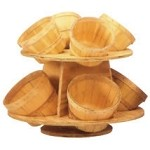 Wood Countertop Display- 8 Basket