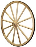 Wooden Hub Wagon Wheel - 36""