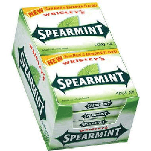 Wrigley Spearmint Gum Slim Pack - 10ct