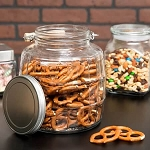 1 Gallon Barrel Jars /Aluminum Lids - 4ct