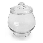 1 Gallon Cookie Jar w/Glass Cover - 2ct