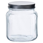 1 Quart Cracker Jar w/Aluminum Lids - 4ct