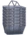 Black Mesh Shopping Baskets - 12ct