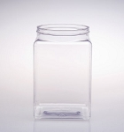 131 oz Square Plastic Jars - 12ct
