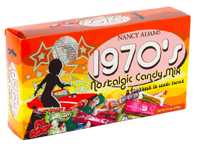 1970's Decade Candy Box - 6ct