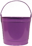 10 Quart Colored Metal Buckets - 8ct
