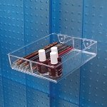 2 Compartment Tray for Pegboard/ Slatwall - 2ct