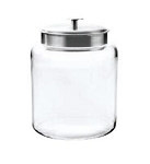 2 Gallon Montana Glass Jar w/Aluminum Lid