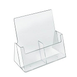 2 Pocket Side By Side Trifold Brochure Holder - 2ct