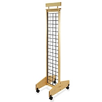 2-Sided Mobile Wood Gridwall Display -13 inch