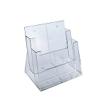 2-Tier 2 Pocket Side By Side Brochure Holder