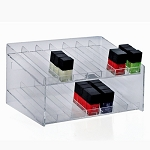 2 Tier 14 Compartment Cosmetic Display