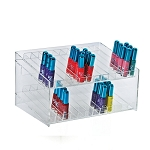 2 Tier 24 Compartment Cosmetic Display
