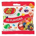 20 Flavors Jelly Belly Peg Bags - 3.5oz  - 12ct