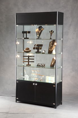 Lighted Tower Display Lit Display Case Display Cabinet