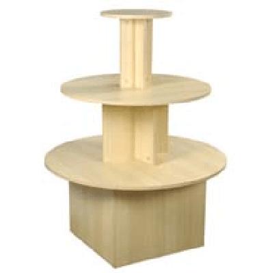 3 Tier Round Table And 24 Radius Bins, 3 Tier Round Display Table