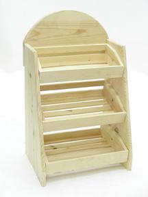 3 Bin Wood Counter Display Countertop Wood Display